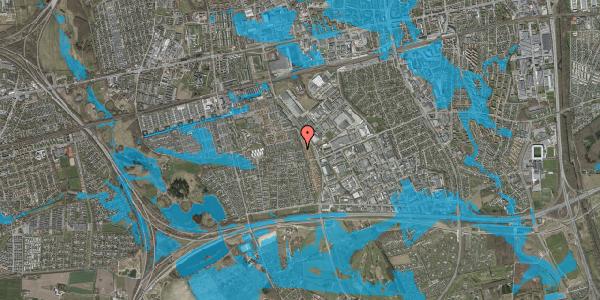 Oversvømmelsesrisiko fra vandløb på Syvhøjvænge 264, 2625 Vallensbæk
