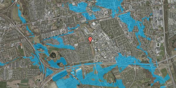 Oversvømmelsesrisiko fra vandløb på Syvhøjvænge 266, 2625 Vallensbæk
