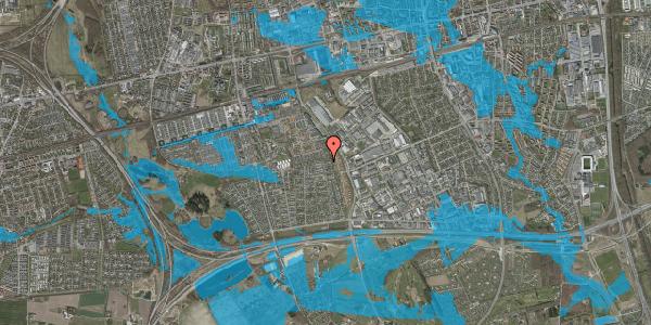 Oversvømmelsesrisiko fra vandløb på Syvhøjvænge 268, 2625 Vallensbæk