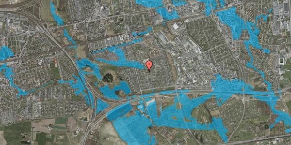 Oversvømmelsesrisiko fra vandløb på Tværbækvej 1, 2625 Vallensbæk