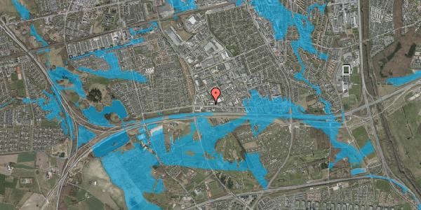 Oversvømmelsesrisiko fra vandløb på Vallensbækvej 46, 2625 Vallensbæk