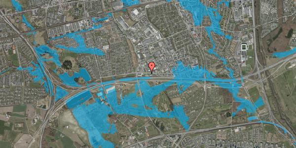 Oversvømmelsesrisiko fra vandløb på Vallensbækvej 65, 2625 Vallensbæk