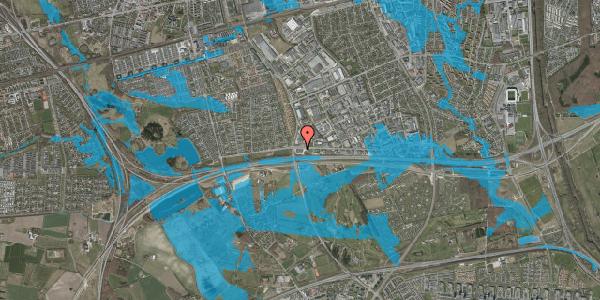 Oversvømmelsesrisiko fra vandløb på Vallensbækvej 71, 2625 Vallensbæk