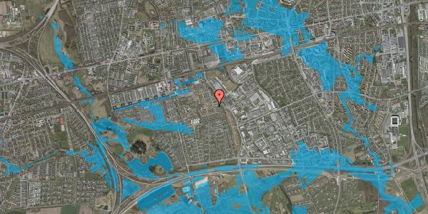 Oversvømmelsesrisiko fra vandløb på Valmuebakken 1, 2625 Vallensbæk