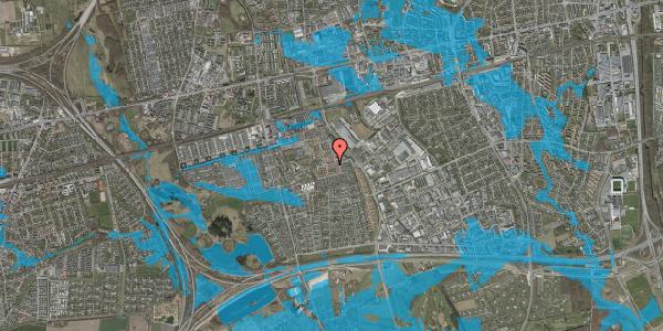 Oversvømmelsesrisiko fra vandløb på Valmuebakken 6, 2625 Vallensbæk