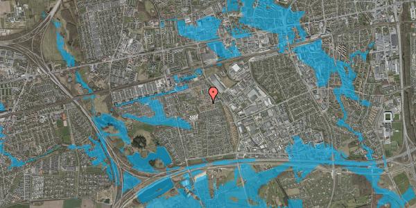 Oversvømmelsesrisiko fra vandløb på Valmuebakken 8, 2625 Vallensbæk