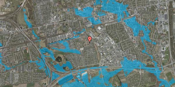 Oversvømmelsesrisiko fra vandløb på Valmuebakken 10, 2625 Vallensbæk