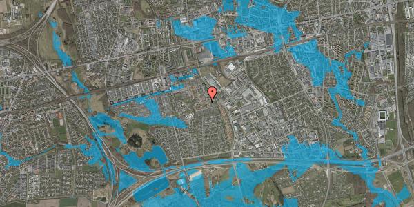 Oversvømmelsesrisiko fra vandløb på Valmuebakken 12, 2625 Vallensbæk