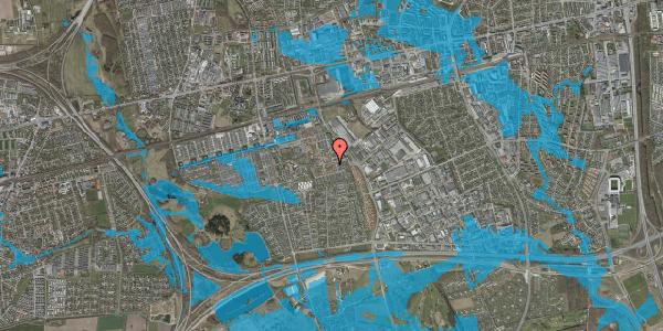 Oversvømmelsesrisiko fra vandløb på Valmuebakken 14, 2625 Vallensbæk