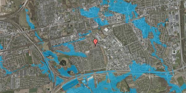 Oversvømmelsesrisiko fra vandløb på Valmuebakken 21, 2625 Vallensbæk