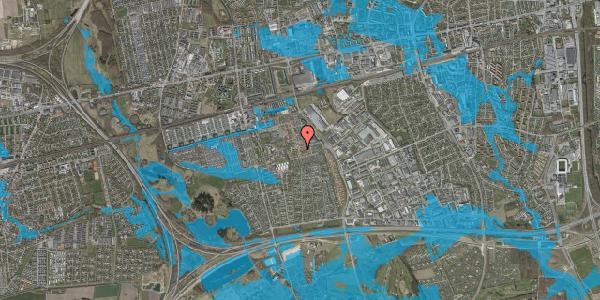 Oversvømmelsesrisiko fra vandløb på Valmuebakken 22, 2625 Vallensbæk