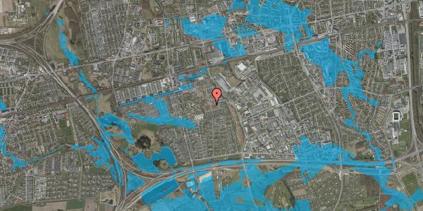Oversvømmelsesrisiko fra vandløb på Valmuebakken 23, 2625 Vallensbæk