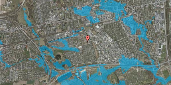 Oversvømmelsesrisiko fra vandløb på Valmuebakken 24, 2625 Vallensbæk