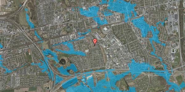 Oversvømmelsesrisiko fra vandløb på Valmuebakken 25, 2625 Vallensbæk
