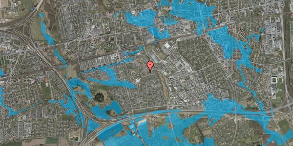 Oversvømmelsesrisiko fra vandløb på Valmuebakken 26, 2625 Vallensbæk