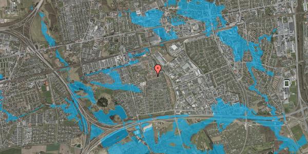 Oversvømmelsesrisiko fra vandløb på Valmuebakken 28, 2625 Vallensbæk