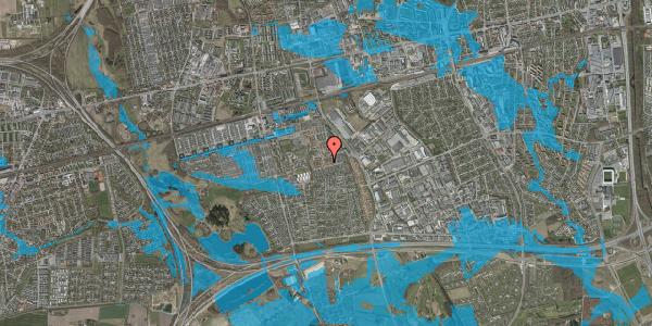 Oversvømmelsesrisiko fra vandløb på Valmuebakken 30, 2625 Vallensbæk