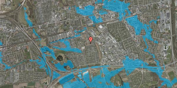 Oversvømmelsesrisiko fra vandløb på Valmuebakken 31, 2625 Vallensbæk