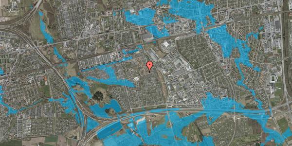 Oversvømmelsesrisiko fra vandløb på Valmuebakken 32, 2625 Vallensbæk