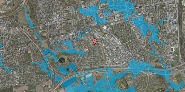 Oversvømmelsesrisiko fra vandløb på Valmuebakken 36, 2625 Vallensbæk