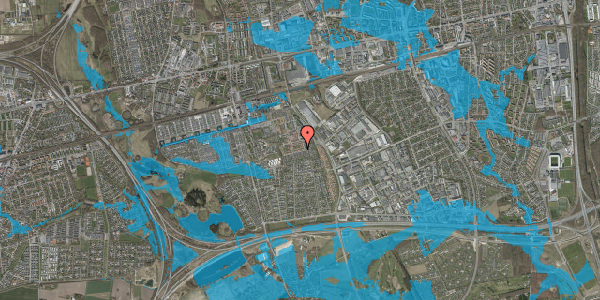 Oversvømmelsesrisiko fra vandløb på Valmuebakken 40, 2625 Vallensbæk