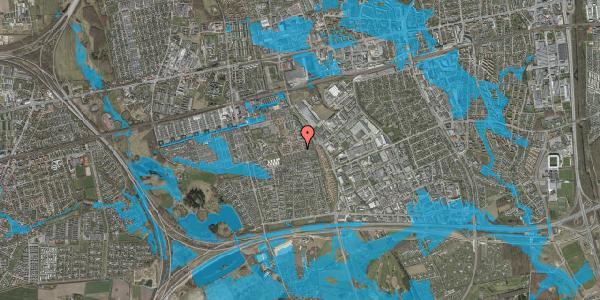 Oversvømmelsesrisiko fra vandløb på Valmuebakken 41, 2625 Vallensbæk