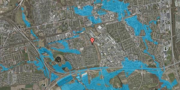 Oversvømmelsesrisiko fra vandløb på Valmuebakken 43, 2625 Vallensbæk
