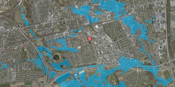 Oversvømmelsesrisiko fra vandløb på Valmuebakken 44, 2625 Vallensbæk