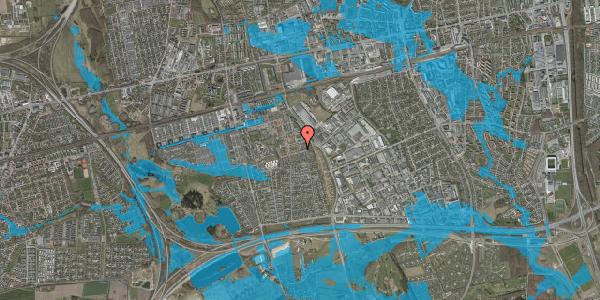 Oversvømmelsesrisiko fra vandløb på Valmuebakken 45, 2625 Vallensbæk