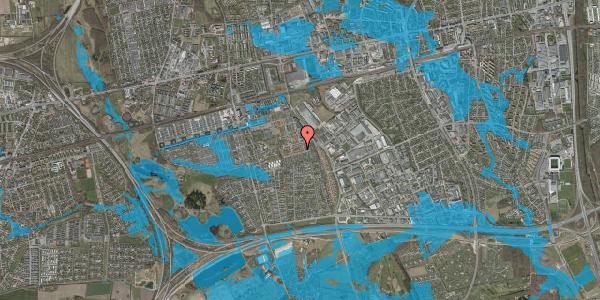 Oversvømmelsesrisiko fra vandløb på Valmuebakken 50, 2625 Vallensbæk