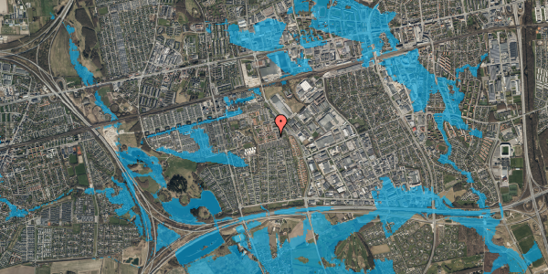 Oversvømmelsesrisiko fra vandløb på Valmuebakken 52, 2625 Vallensbæk