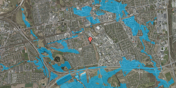 Oversvømmelsesrisiko fra vandløb på Valmuebakken 53, 2625 Vallensbæk