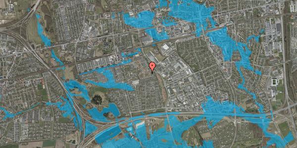 Oversvømmelsesrisiko fra vandløb på Valmuebakken 54, 2625 Vallensbæk