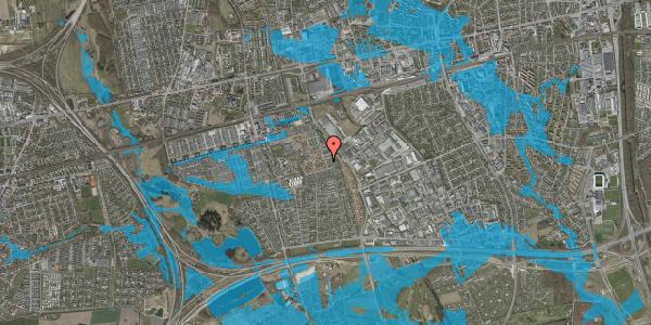 Oversvømmelsesrisiko fra vandløb på Valmuebakken 55, 2625 Vallensbæk
