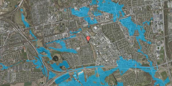 Oversvømmelsesrisiko fra vandløb på Valmuebakken 56, 2625 Vallensbæk