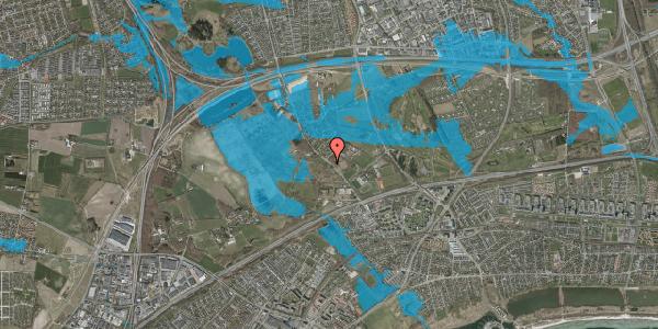 Oversvømmelsesrisiko fra vandløb på Vejlegårdsvej 89, 2625 Vallensbæk