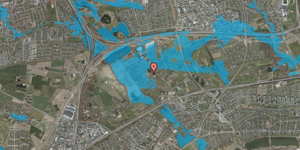 Oversvømmelsesrisiko fra vandløb på Vejlegårdsvej 105, 2625 Vallensbæk