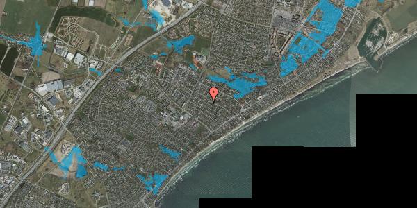 Oversvømmelsesrisiko fra vandløb på Rosenvangsvej 65, 2670 Greve