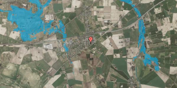 Oversvømmelsesrisiko fra vandløb på Fruegade 11, 4241 Vemmelev