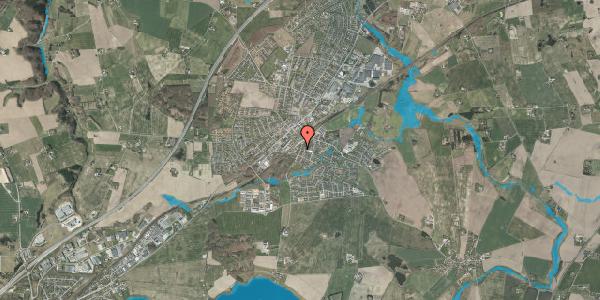 Oversvømmelsesrisiko fra vandløb på Fregerslevvej 8, 8362 Hørning
