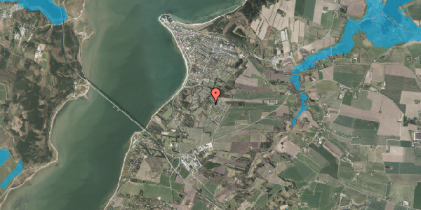 Oversvømmelsesrisiko fra vandløb på Poppelvej 58, 7870 Roslev