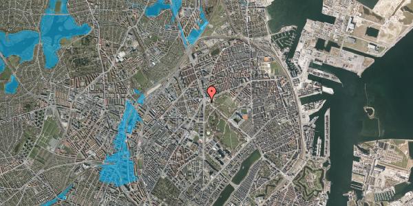Oversvømmelsesrisiko fra vandløb på Øster Allé 60A, 2100 København Ø