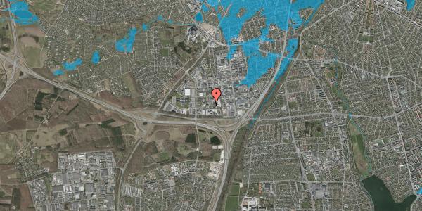 Oversvømmelsesrisiko fra vandløb på Ejby Industrivej 28C, 2600 Glostrup