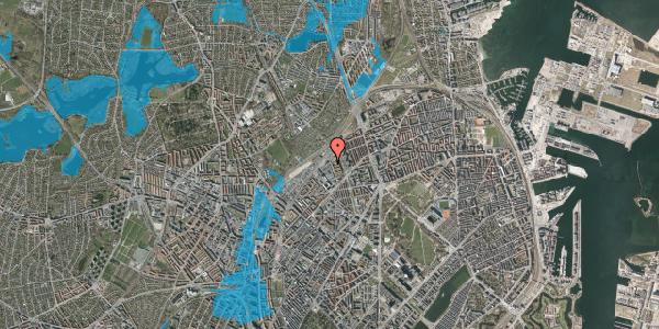 Oversvømmelsesrisiko fra vandløb på Emblasgade 35, 1. th, 2100 København Ø