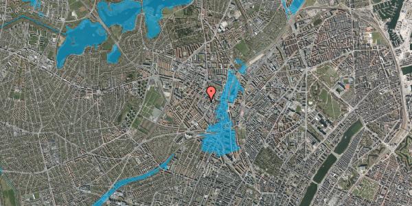 Oversvømmelsesrisiko fra vandløb på Tranevej 6B, 1. th, 2400 København NV