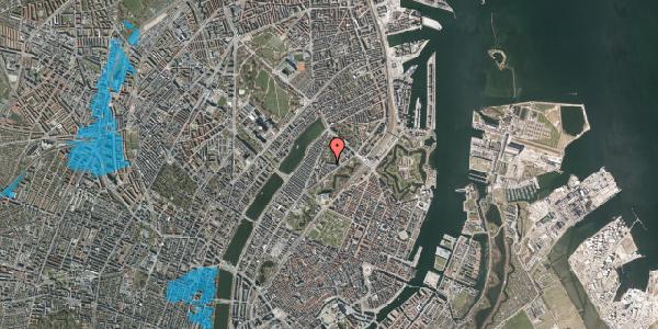 Oversvømmelsesrisiko fra vandløb på Upsalagade 20A, st. tv, 2100 København Ø