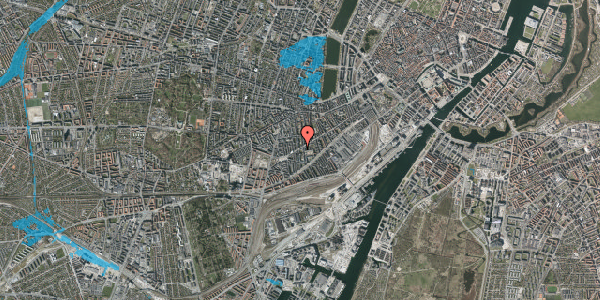 Oversvømmelsesrisiko fra vandløb på Istedgade 93, 1. , 1650 København V
