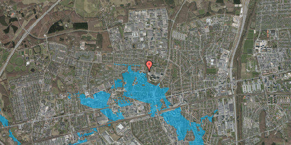 Oversvømmelsesrisiko fra vandløb på Sportsvej 64B, 2600 Glostrup