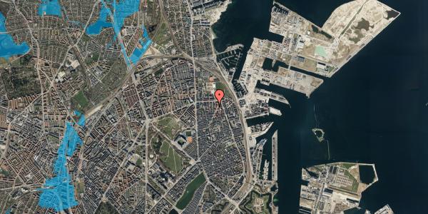 Oversvømmelsesrisiko fra vandløb på Svendborggade 1, 5. 503, 2100 København Ø