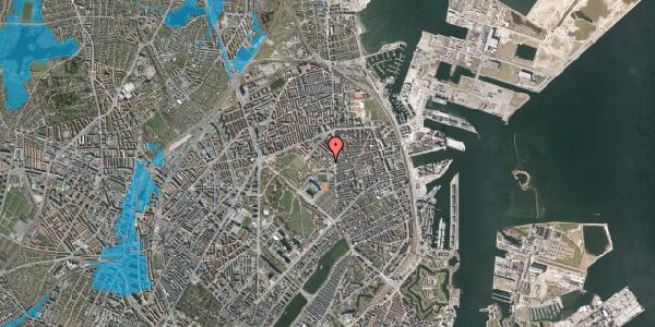Oversvømmelsesrisiko fra vandløb på Østerfælled Torv 21, 2100 København Ø